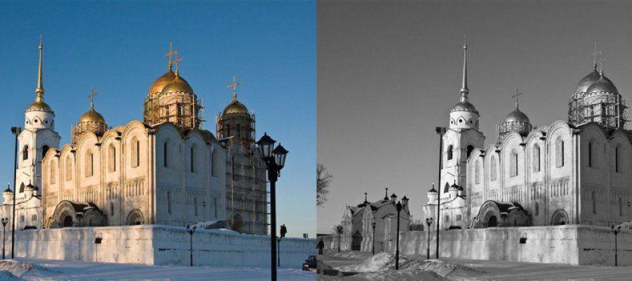 Как сделать из цветной фотографии черно-белую в фотошопе