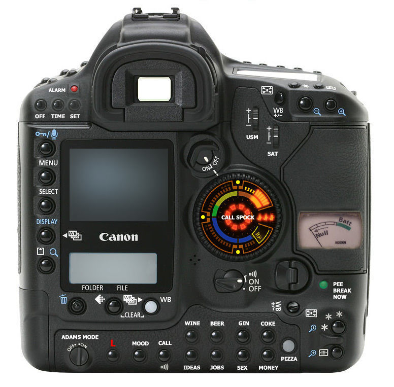Если камера canon eos 3d будет оборудована
