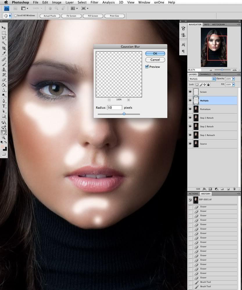Фотошоп или как сделать кожу глянцевой
