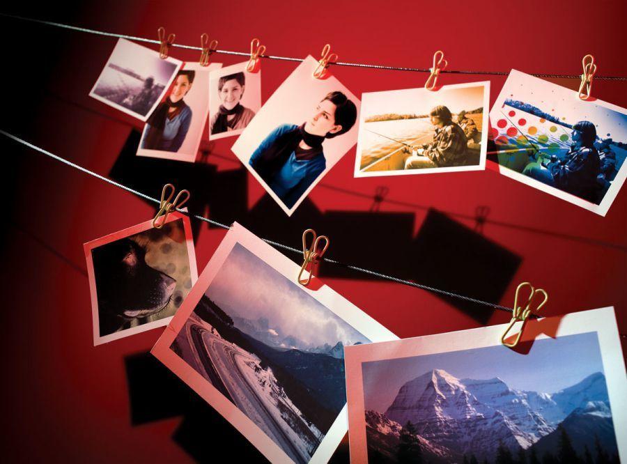 фотографии распечатанные на бумаге