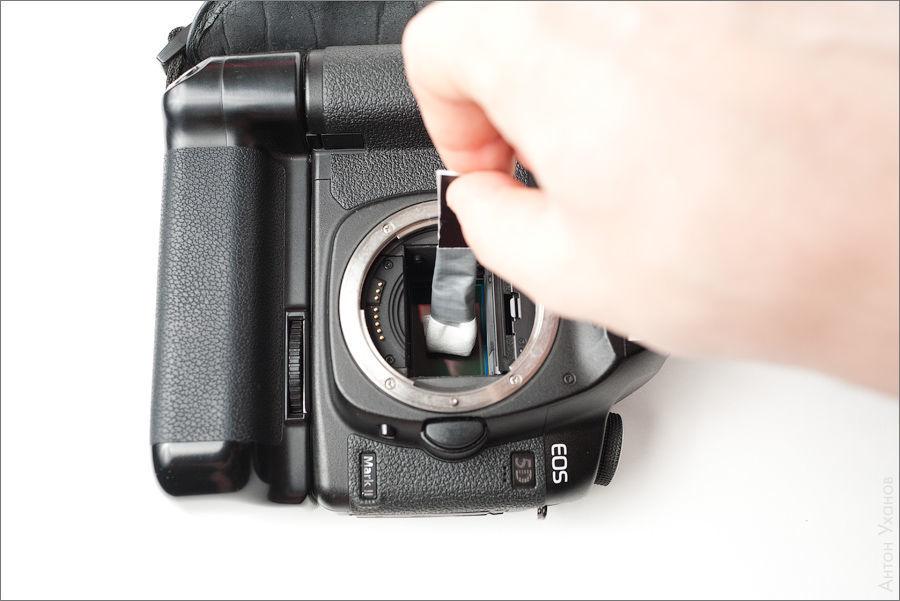 как помыть матрицу фотоаппарата ничего