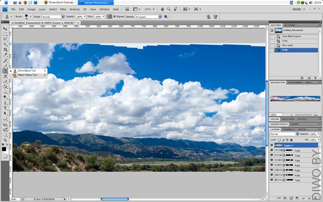 Как сделать панораму в paint net