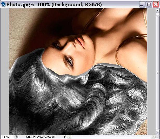 обработка волос photoshop